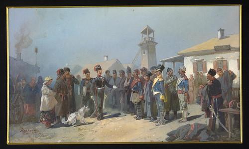 008-Reclutamiento entre el regimiento de cosacos presos por el ejercito de Napoleon-1813