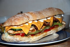 giant_chicken_bacon_sandwich_04 (@nightgolfer) Tags: food chicken cheese bacon giantsandwich deliciousgiantsandwich