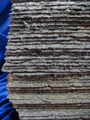 Stacked Asbestos Roof Shingles