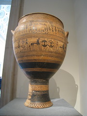 Funerary Vase Krater (cwinterich) Tags: themetropolitanmuseumofart greekandromangalleries geometricvase