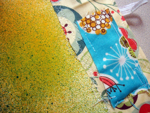 experiments journal #3 - fabric edging for a journal page