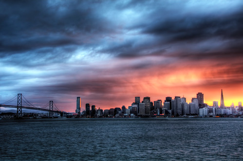 San Francisco Skyline sunset by El Frito, on Flickr
