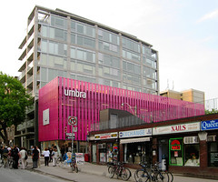 The little building that made a big splash...of colour! (livinginacity) Tags: new pink urban toronto canada color colour building architecture modern buildings wow wonderful design cool arquitectura colorful superb contemporary awesome inspired culture structures modernism surreal canadian structure fuschia wicked material colourful current  metropolitan architettura recent futuristic cultural bold jewel joyous imaginative cuttingedge ksa   urbanity contemporaryarchitecture innovative inventive     arkitect  arkitekture kohnshnierarchitects  arkitecten a architectureincanada