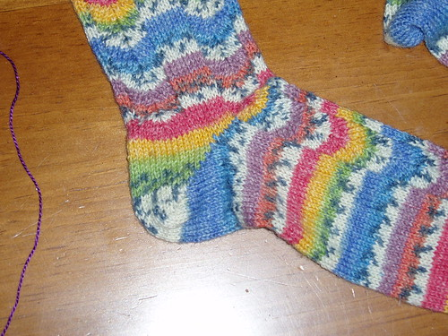 Mom's short row heel