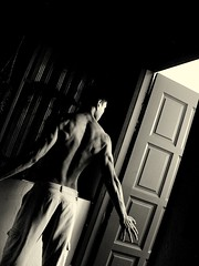 Midnight Drama... lets cool off in the Shadows (dinesh_75000) Tags: boy bw man male muscles back doors shadows balcony bond veins petri johor defined treeman selfpotraits menshealth chindian mensfitness anawesomeshot humanbodygallerybw