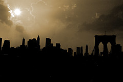 New York, New York (noamgalai) Tags: nyc bridge sunset sun ny newyork skyline brooklyn photography photo downtown picture july batterypark photograph brooklynbridge noam allrightsreserved 2007   photomania  noamg galai noamgalai   wwwnoamgalaicom