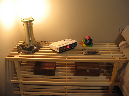bedside table left