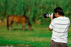 Alfoudry in action (Ammar Alothman) Tags: life friends people horse man canon photography interestingness interesting friend photographer calendar bokeh explore kuwait 70200 ammar kuwaitcity kw 2007 q8 30d abdullah canon70200  canon30d explorepage  ammaralothman 3mmar alfoudry  abdullahalfoudry  kuwaitvoluntaryworkcenter