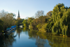 Church Spire Refelected in the Thames (Arisian) Tags: thames river spire abingdon