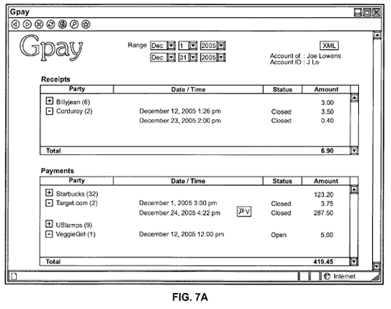 Bezahlung via Handy - PC-Ansicht