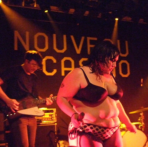 Beth Ditto performing at the Nouveau Casino, Paris