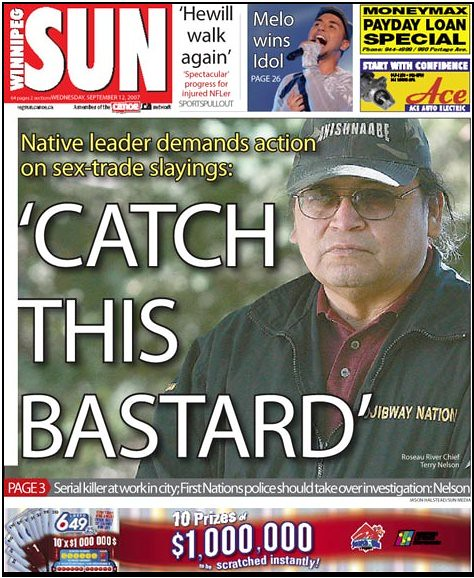 Native police should hunt serial killer, says Nelson