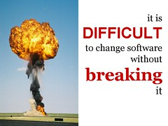 It is not easy to change software