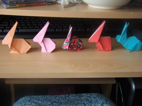 attempts at origami rabbit by shortieb