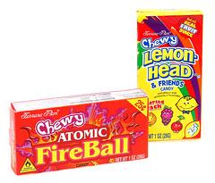 Chewy Lemonheads & Chewy Atomic Fireballs
