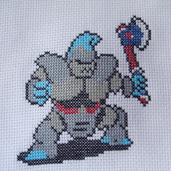 Axe Knight (benjibot) Tags: crossstitch crafts videogames crop nes dragonwarrior reshoot