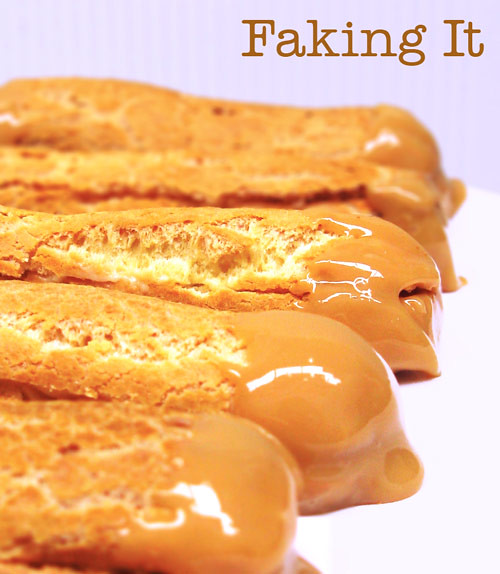 Dulce de Leche Eclairs (with title)