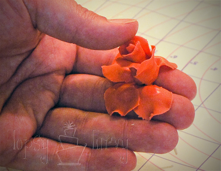 fondant rose tutorial petal layer 2 attaching