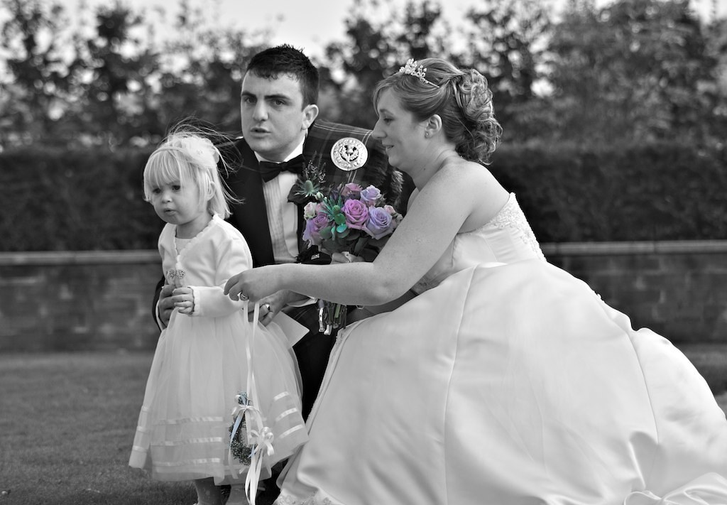 The Bride, Groom and Flower Girl