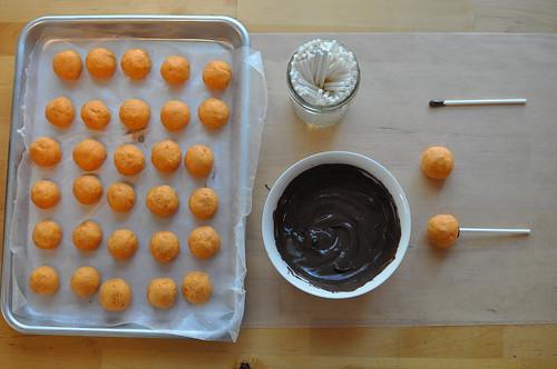 cake balls spear setup