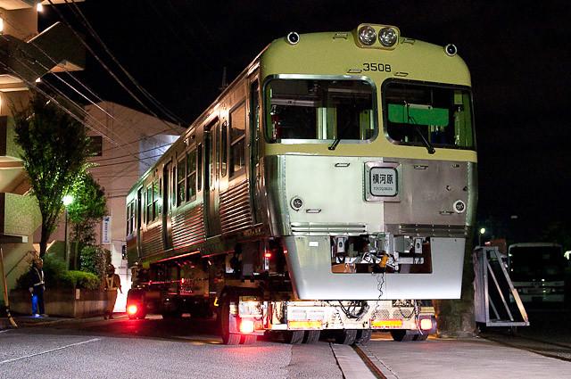 伊予鉄道3000系クハ3507・クハ3508陸送