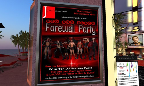 jakes farewell party poster