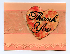 Watercolor Heart Thank You Card