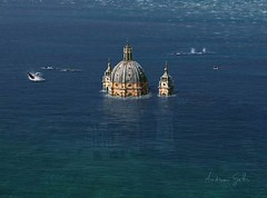 Basilica di Superga (http://www.agatti.com) Tags: world blue sea italy seascape art church illustration digital photoshop dark painting torino mixed scenery italia ebay mare underwater darkness graphic andrea photoshopped deep chiesa piemonte scifi sciencefiction sunk wreck tablet turin wacom piedmont gatti sss fantascienza relitto scuro tecniche tecniques oscurit illustrazione miste sommersa agatticom