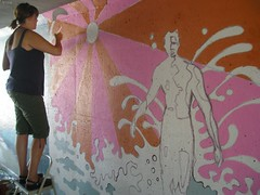 P1010023 (Kurt Christensen) Tags: art beach painting mural surfer gilgobeach gilgo
