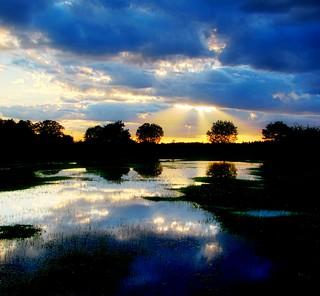 Sunset over Ocknell Plain