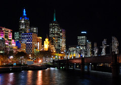 Melbourne CBD at Night (Viajante) Tags: light skyline night river australia melbourne victoria yarra cbd centralbusinessdistrict yarrariver nikond80