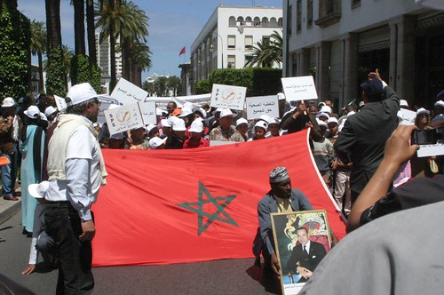 Manifestacion en Marruecos