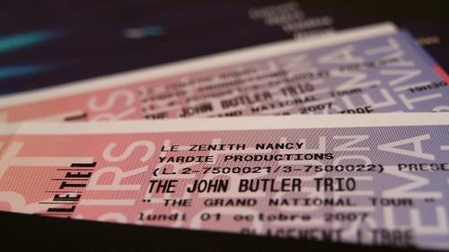 Billets de concert - John Butler Trio à Nancy