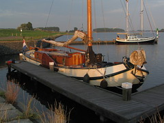 Ora et Labora (tomorrowstand) Tags: sunset water sunshine evening meer zeeland veerse tjalk platbodem geersdijk