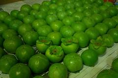 8月中旬に間引いた青柿の写真