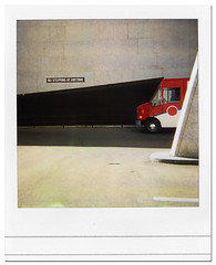 (scottintheway) Tags: shadow canada abstract polaroid downtown angle post mail noparking saskatoon 600 saskatchewan van roid sun600