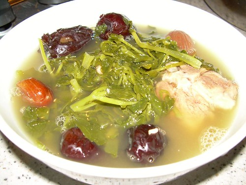 watercress soup with red dates