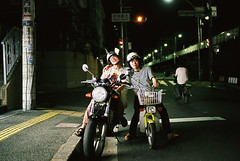 bosozoku (troutfactory) Tags: street urban film bike japan night 35mm voigtlander bessa gang lifestyle motorcycles rangefinder osaka analogue kansai bikers natura1600 photographyclub r2a bosozoku shashinbu notreallybosozoku speedtribe