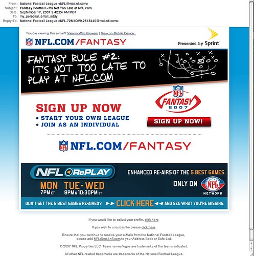NFL Email