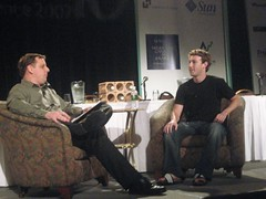 Arrington interviews Zuckerberg @ TC40