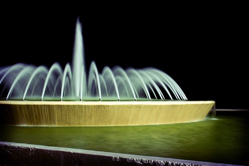 Mecom Fountain @ Night