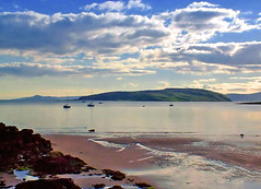 Wee Cumbrae (edowds) Tags: blue sky beach clouds landscape boats scotland riverclyde sand scenery scenic breathtaking millport waterscape ayrshire isleofweecumbrae superbmasterpiece isleofgreatcumbrae