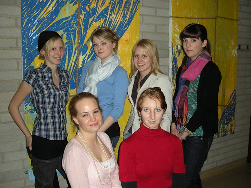 Teilnehmerinnen am Landes-Fremdsprachen-Wettbewerb 2009