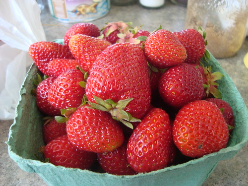 local strawberries!!!! yum!