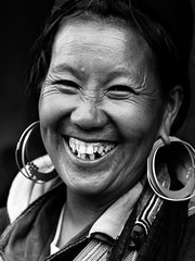 Happiness (julien.t) Tags: bw smile laughing happy joy happiness bn vietnam sourire joie sapa hmong