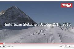 Hintertuxer Gletscher si užívá sněhu