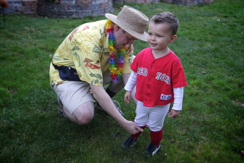 the tourist & the red sox player