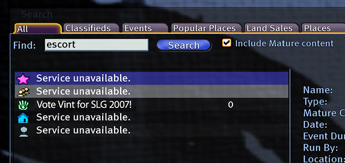 Escort: Service Unavailable