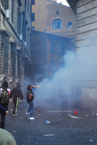 Bottle thrower and teargas