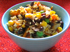 Rainbow Rice and Beans
